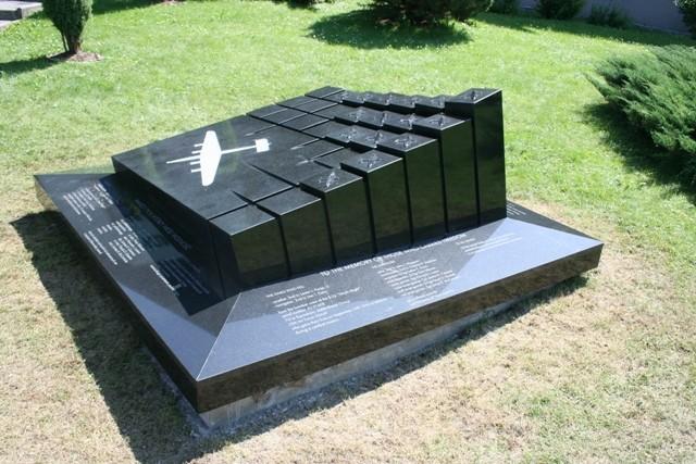 Jeleśnia. Pomnik amerykańskich lotników