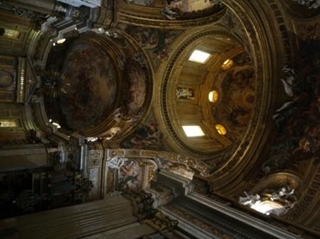 Rzym Il Gesù przeglada się w lustrze