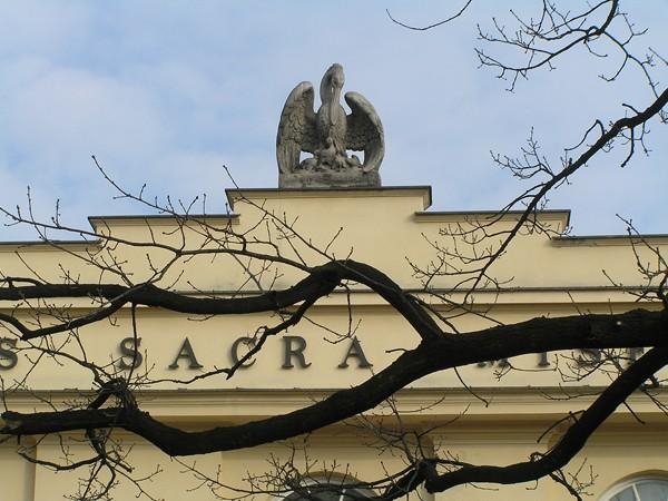 Warszawa Pelikan drze własną pierś