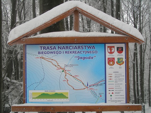 Magura Małastowska. Wzdłuż grzbietu na biegówkach