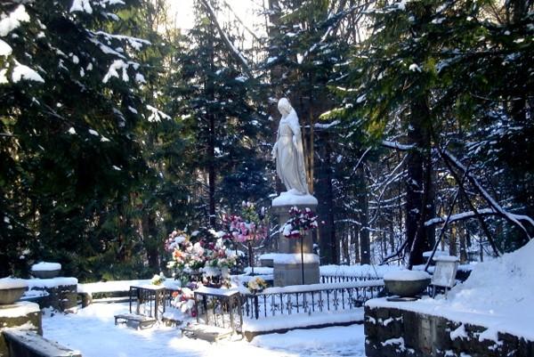 Krynica. Zimowa penetracja Góry Parkowej