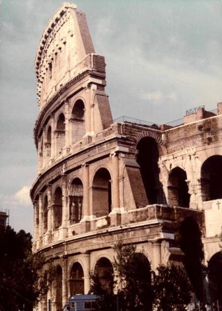 Rzym. Widz w Koloseum