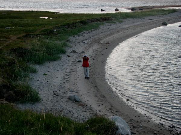 Fiord Porsanger. Kolacja o wschodzie słońca