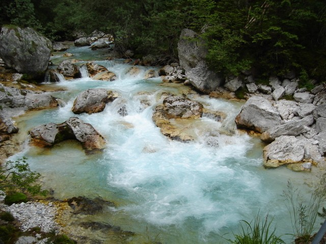 Soča Soška pot – szlak nad rzeką