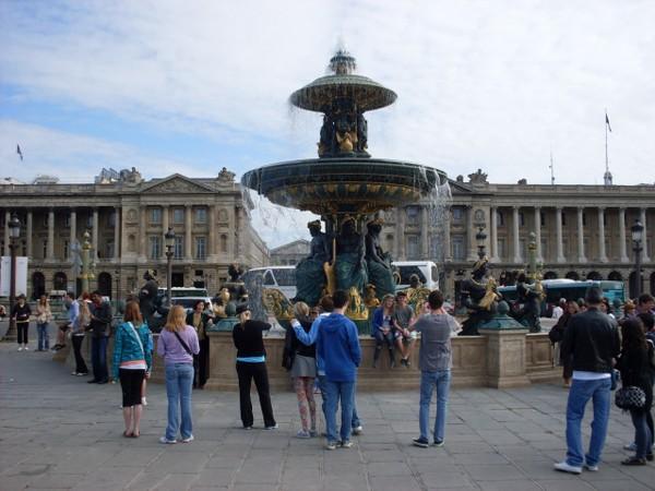 Paryż. Obelisk na placu Zgody