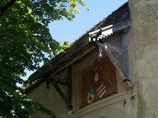 Gruyère. Zamek z żurawiem w herbie