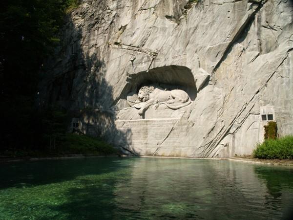Lucerna. Pomnik szwajcarskich gwardzistów