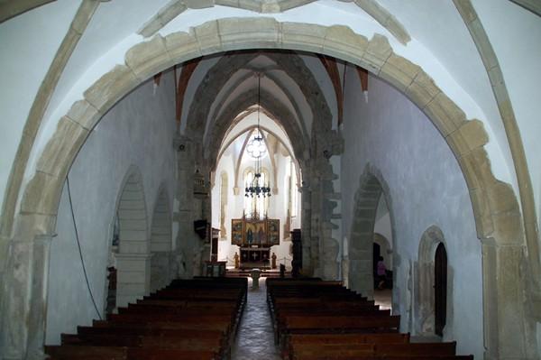Prejmer Twierdza w wiejskim kościele