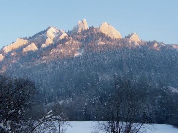 Trzy Korony. Zimą przez Wąwóz Szopczański