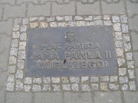 Bytom Odrzański. Plac Jana Pawła II Wielkiego