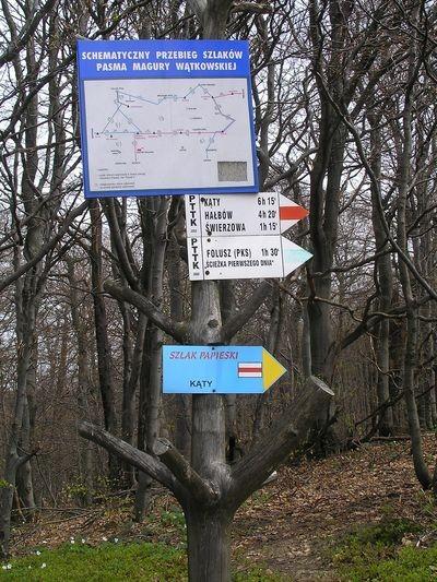 Magura Wątkowska. Papieski głaz na górskim szlaku