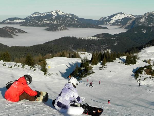 Steinplatte Na narciarskim płaskowyżu