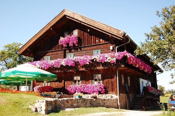 Mysłakowice Drewniane domy prawie jak z Tyrolu