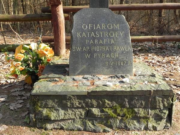 Las Kabacki. Pomnik ofiar tragicznej katastrofy