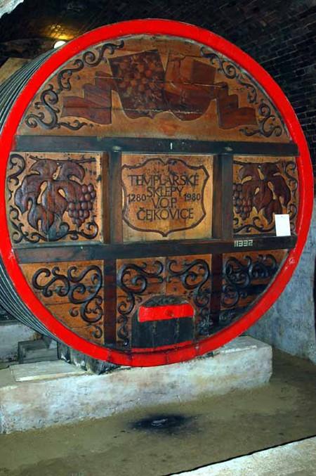 Čejkovice. Winne piwnice templariuszy