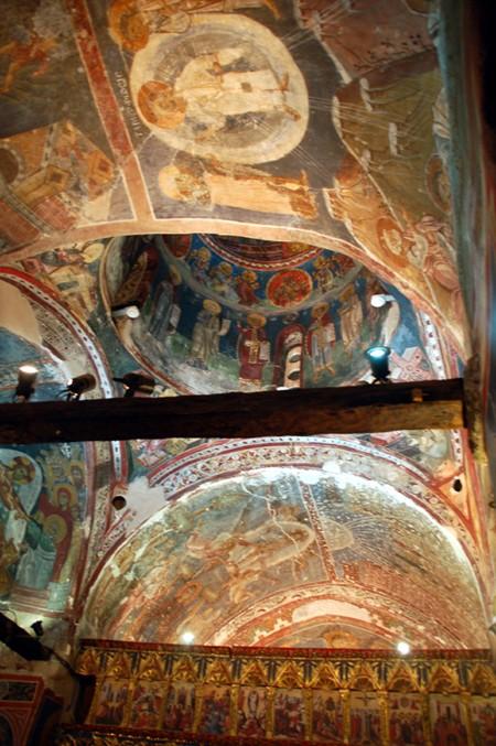 Kakopetria. Cerkiew św. Mikołaja od Dachu