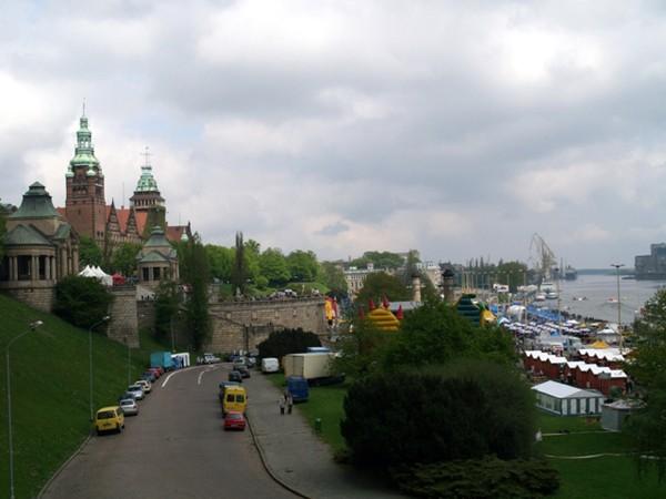 Szczecin. Ogrody na Wałach Chrobrego