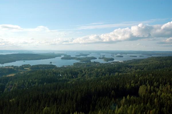 Kuopio. Skocznia narciarska i złocone ikony