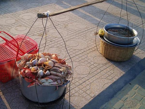 Nha Trang Cichy relaks i krewetki na plaży