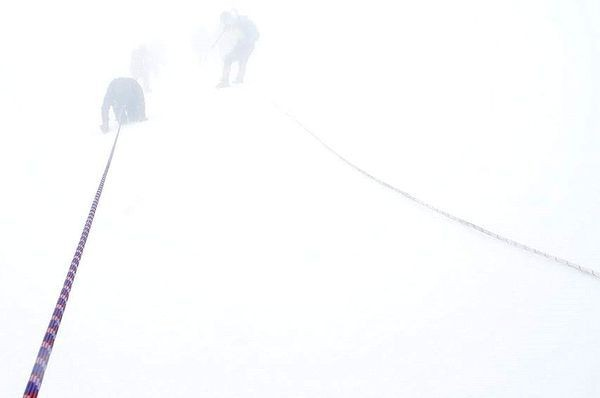 Grossglockner Pierwszy atak utknął we mgle