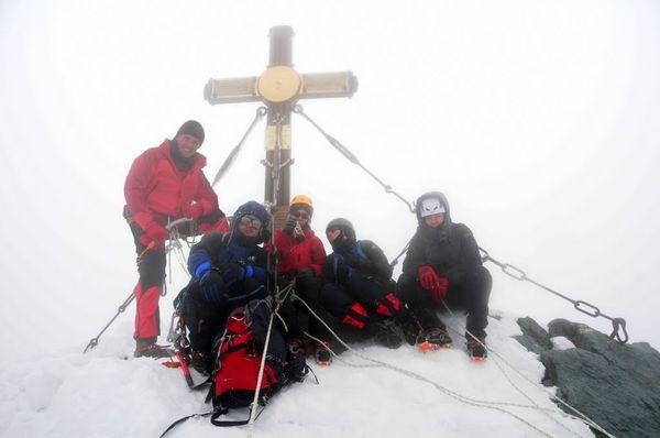 Grossglockner Piątka zobywców stnęła na szczycie
