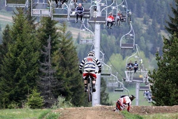 Bachledová dolina. Rowerem w dół narciarskiego stoku