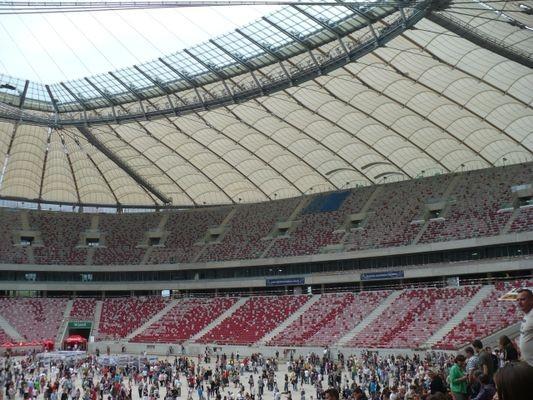 Warszawa. Stadion Narodowy… dla turystów