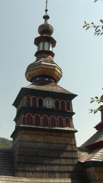 Bardejovské Kupele. Cerkiew z Mikulašovej w skansenie