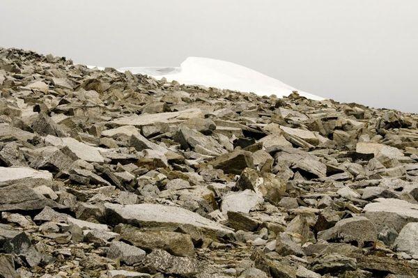 Glittertind Topniejąca biała czapa lodowca
