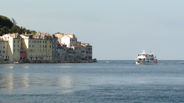 Rovinj Domy w wodzie na półwyspie Istria
