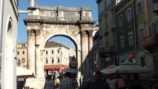 Pula Rzymskie kolumny wokół Forum