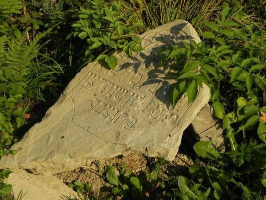 Baligród Kirkut na wzgórzu za wsią