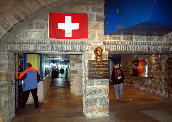 Jungfraujoch Podziemne miasto przy kolei