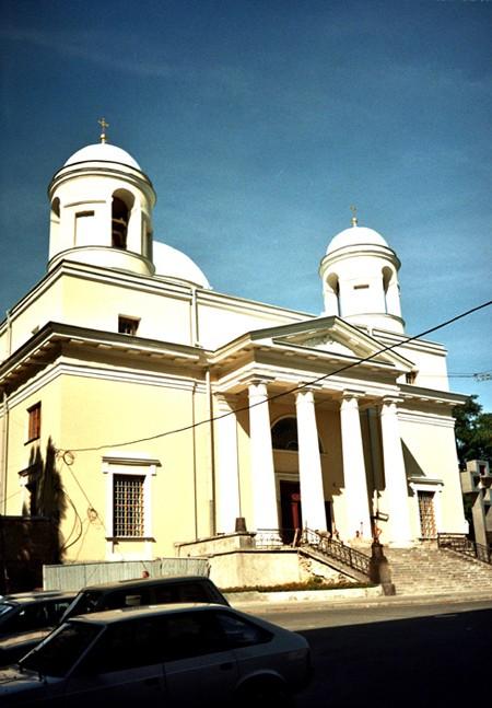 Kijów. Katolickie wieże wśród kopuł cerkwi