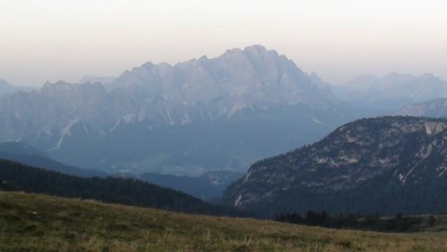 Passo Giau. Na zachód słońca spoglądamy z przełęczy
