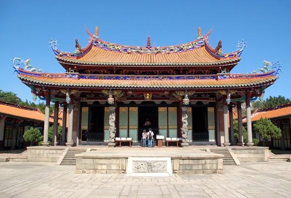 Tajpei Świątynia Konfucjusza w powszedni dzień