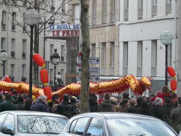 Paryż. Chiński Nowy Rok: rok Wodnego Smoka