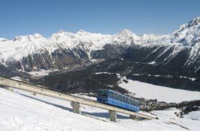 Sankt Moritz Nartostrady pod szwajcarską flagą