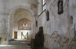 Wilno Puste wnętrze kościoła na Piasku