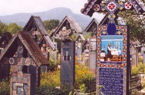Săpânța Jest wesoło na wiejskim cmentarzu