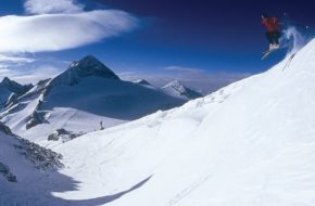 Hintertux Śnieg na stoku przez cały rok
