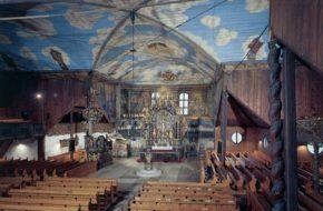 Kežmarok Artykularny kościół za murami