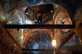 Kakopetria Cerkiew św. Mikołaja od Dachu