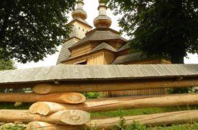 Ladomirová Drewniana wieża sięga nieba