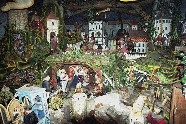 Karlštejn. Królewska szopka na zamku