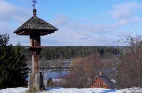 Nowogród Śpi snem zimowym skansen nad Narwią