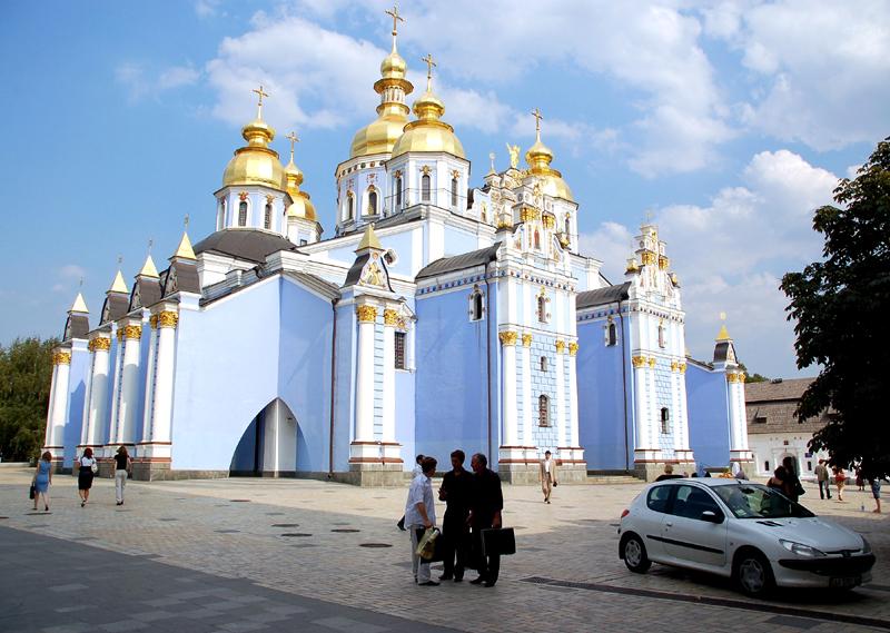 Kijów Monaster Michajłowski… odbudowany