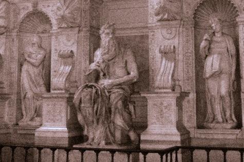 Rzym Rogaty Mojżesz u św. Piotra