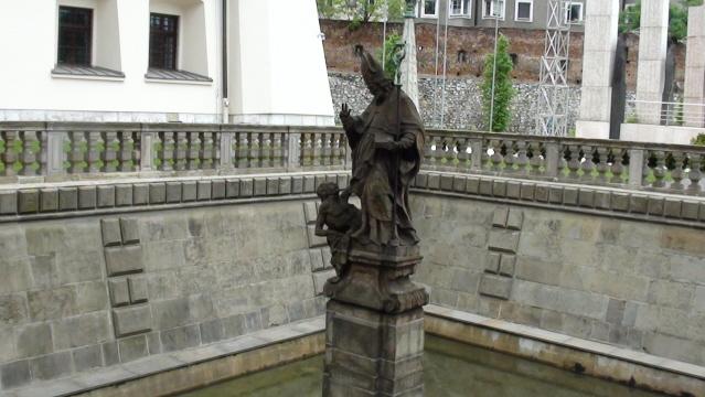Kraków. Sadzawka św. Stanisława na Skałce