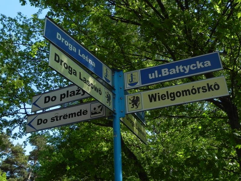 Kaszuby Dwujęzyczne tablice na ulicach